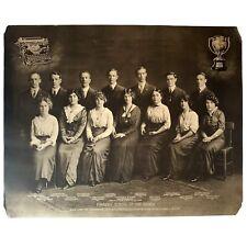 LARGE ORIGINAL 1915 TYPEWRITER POSTER Antique Underwood Promo Advertisement Vtg