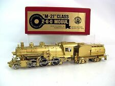 Key HO Brass M-21 Class 2-6-0 Mogul Locomotive & Tender
