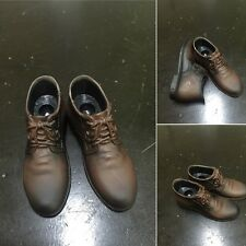 1/6 Scale Male Brown Plastic Leather Shoes Fit 12'' Changable Body Feet Figure