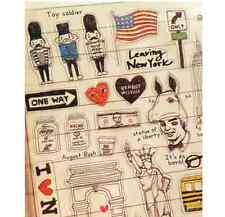 New York USA holiday PVC Sticker Travel Scrapbooking Card Diary Art Craft DIY