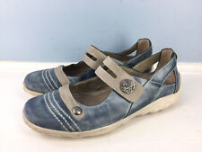 REMONTE dorndorf 37 6.5 7 blue gray leather mary janes comfort casual Excellent