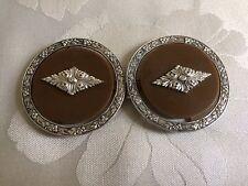 Vintage Art Deco Silver & Bakelite Buckle