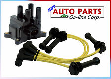 IGNITION SPARK PLUG WIRES + IGNITION COIL FOCUS 00-04 ESCAPE 01-04 L4 2.0L DOHC