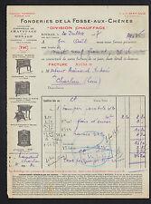 ROUBAIX (59) USINE de CHAUFFAGE POELES / FONDERIE de la FOSSE-aux-CHENES en 1937