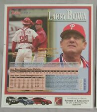 LARRY BOWA 2003 PHILADELPHIA PHILLIES DAILY NEWS POSTER