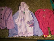 GUC Girl's Size 5T Jackets And Sweater Lot (6- Cherokee, Sesame Street, Arizona)
