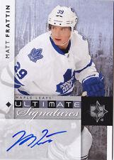 11-12 UD Ultimate Matt Frattin Auto Signatures Maple Leafs Autograph