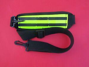 "GYM BAG SHOULDER STRAP Adjustable Black 39"" Heavy Duty Nylon"