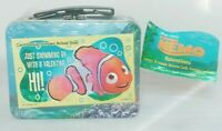 Disney's Nemo Just Swimming By With A Valentine Making A Splash Tin Tote SEALED