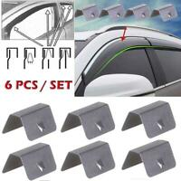 6X Wind / Rain Deflector Car Channel Metal Retaining Clips For Heko G3 Clip New