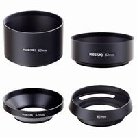 62mm standard telephoto wide angle vented curved metal lens hood kit set 4pcs