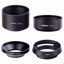62mm standard telephoto wide angle vented curved metal lens hood kit set 4pcs