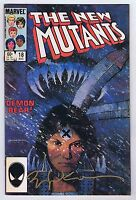 New Mutants #18 VF Signed w/COA Sienkiewicz 1st App Warlock 1984 Marvel CGC