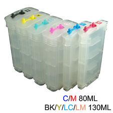 HP 84 85 Designjet 30/n 90r/gp 130/r/nr/gp refillable ink cartridge 80-130ML*6