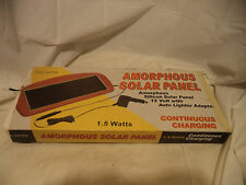 Ironton Amorphous Solar Panel Charger - 1.5 Watt 12 Volt w/ Auto Lighter Adapter