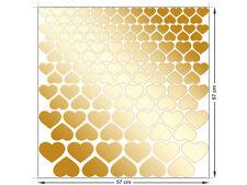 Wandsticker Konfetti 120 teiliges Set Herzen Goldtöne farbig klein groß