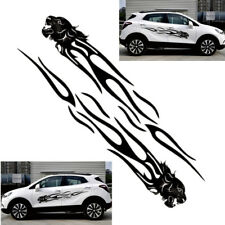 2x 2m Black Leopard Car Door Stripe Decal Panther Head Flame Sticker Universal
