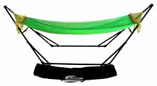 9 Ft Double Hammock Green With Sturdy Space Saving Steel Stand Includes with Bag
