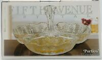 """5th Avenue Crystal """"Portico"""" Divided Dish with Handle"""