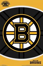 BOSTON BRUINS ~ OVAL LOGO 22x34 POSTER NHL National Hockey League NEW/ROLLED!