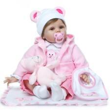 Bambole rinascere 55CM Lifelike Reborn Baby Doll Vinyl Kids Doll playmate regalo