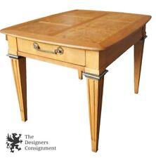 Lane Furniture Mid Century Modern Birdseye Maple Accent Table 1963 Biedermeier