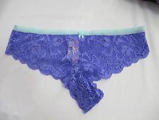 NIP Victoria's Secret PINK Purple/Mint Floral Lace Cheekster Panty S FRE SHIP