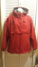 J.Crew Red Hooded Coat Sport Jacket Size S