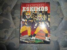 1993 EDMONTON ESKIMOS MEDIA GUIDE Yearbook CFL CHAMPIONS! Football Program AD