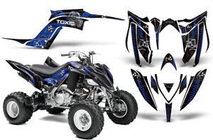 ATV Graphics kit Sticker Decal for Yamaha Raptor 700 13-18 TOXICITY BLUE BLACK