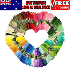 100 Assorted Color Coloured Egyptian Cotton Embroidery Cross Stitch Thread Floss