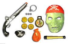 Máscara De Calavera Para Niños Piratas Utilería parche ocular Plástico Pistola Arma De Batería Juguetes