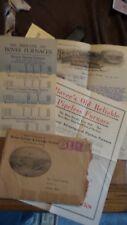 Vintage RARE 1917 Waterloo Ia Bovee Furnace Works 4 Burr Mills Letter Head Group