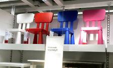 Ikea Mammut Chaise pour enfant Rouge avec Dossier Siège Meubles Groupe