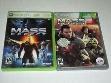 Mass Effect Games - Lot of 2 - (Microsoft Xbox 360)