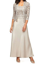 Alex Evenings New Sequin-Lace Satin Gown and Jacket.Size 12 #BN 1664 (12)-2