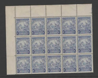 BARBADOS 1938 2.5d MARK ON THE ORNAMENT FLAW- BLOCK OF 15(SG251a) MNH