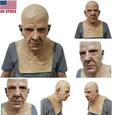 Cosplay Bald Old Man Mask Male Disguise Costume Halloween Party Realistic Masks