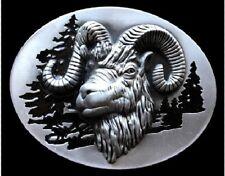 Ram Capricorn Mountain Sheep Animal Belt Buckle Buckles