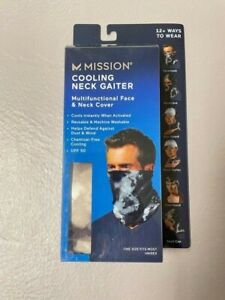 NEW MISSION COOLING NECK GAITER-CLOUD QUIET SHADE- Great For Face Mask!