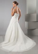 Alfred Sung Sweetheart 6881 Asymmetrical White Wedding Dress Gown 2397 Sz 12