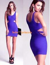 NWT bebe purple textured side cutout stretchy bodycon top dress M medium L large