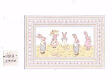 Flocked Paper Rug rabbits miniature dollhouse carpet 1pc 1/12 scale RG115