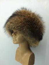 Raccoon Fur All Fur Hat Round Full Fur