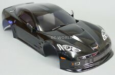 For Tamiya  1/10 RC Car BODY Shell CHEVY CORVETTE 190mm BLACK -FINISHED-