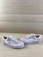VANS Old Skool Pink Canvas/Suede Lace Up Low Top Shoes Men's Size 6.5  Women's 8