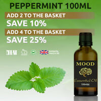 Essential Oil Pure 100ml Aromatherapy Natural Oils Peppermint Organic Fragrances