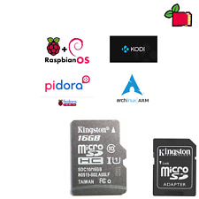 Preloaded NOOBS 16GB CLASS10 SD Card Preinstalled for Raspberry Pi