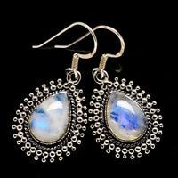 "Rainbow Moonstone 925 Sterling Silver Earrings 1 1/2"" Ana Co Jewelry E398384F"