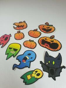 11 x Funky Fun Halloween Stickers Pumpkins, Bats And Ghosts